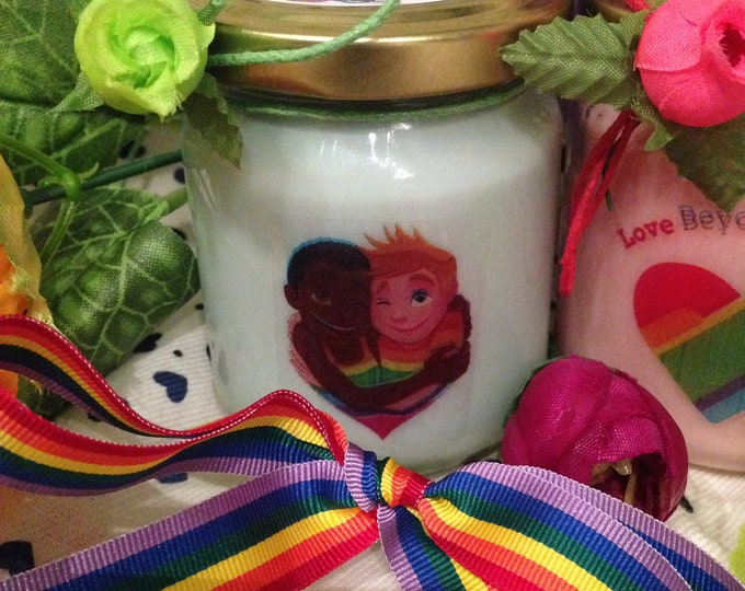 Love is Love 2 vasetti con candele di cera di soia e oli essenziali - Rainbow - LGBT - Uguali Diritti - Unioni Civili – Pride