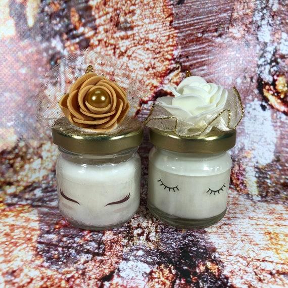 Nozze d'oro 10 mini candele unicorno in cera di soia e oli essenziali segnaposto bomboniera ricordo invitati