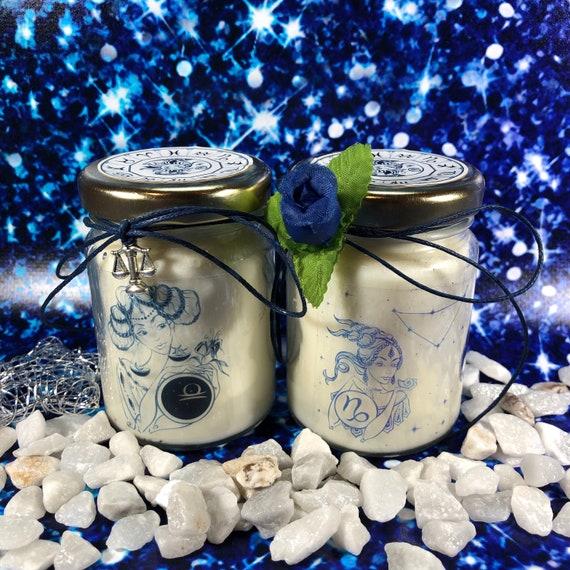 Segni Zodiacali Idea Regalo 2 vasetti con candele di cera di soia e oli essenziali Zodiaco Oroscopo