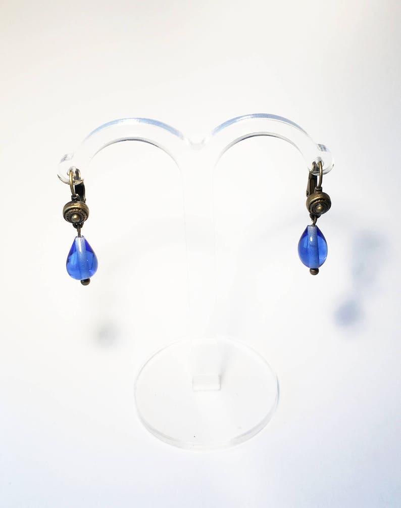 23b016a45aa4 Pendientes de lágrima azules. Pendientes de estilo vintage