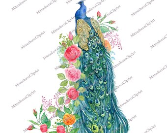 roses note paper letter sheet scrapbooking garden peacock peonies Wonderful peacock garden-2 trash magazine Digital paper
