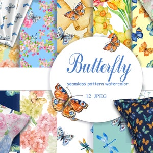 butterfly 16 PNG files part 2 watercolor clipart .watercolor hand painting