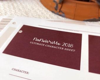 2018 Novel Character Bio