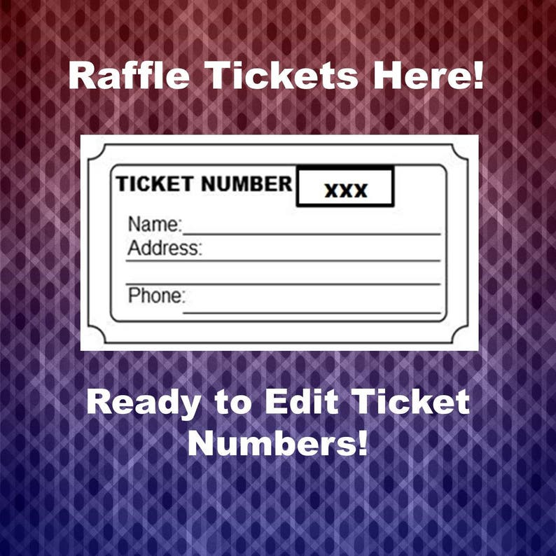 graphic relating to Printable Raffle Tickets With Numbers called Raffle Ticket Template, 8 Blank Raffle Tickets For every Web site, Social gathering Exertion Xmas Raffle Tickets, Printable Webpage, Phrase Document, Prompt Down load