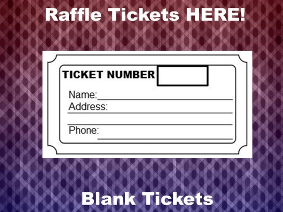 raffle ticket template 8 blank raffle tickets per page party etsy
