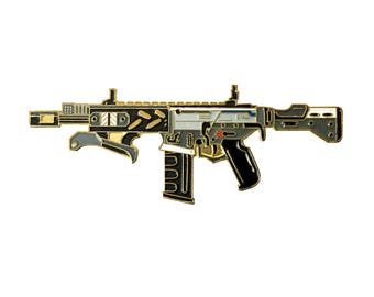 Call of Duty Peacekeeper Enamel Pin -  Lapel Pin - Hat Pin - Black Ops 2 - Black Ops 3 - Soft Enamel Pin - Brooch - Black and Gold - Gun