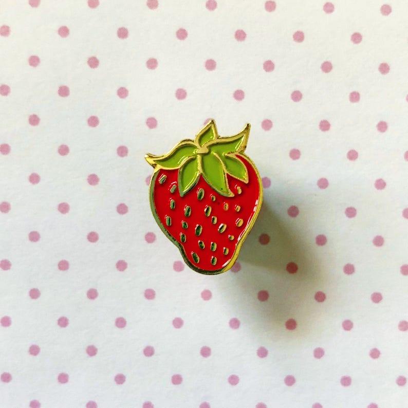 Strawberry Shortcake Enamel Pin Lapel Pin Hat Pin 80s Etsy
