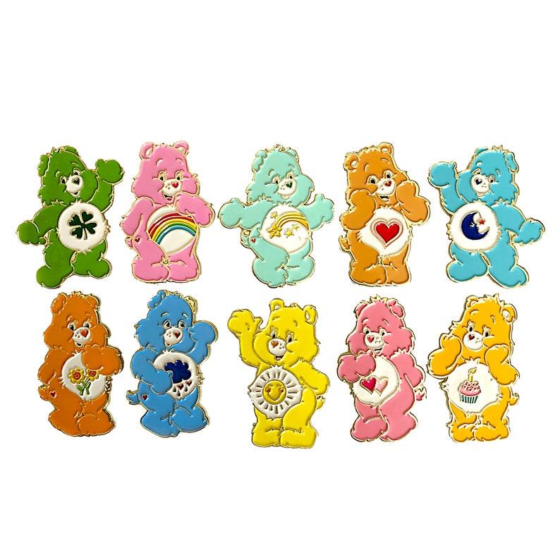 d925739c89f Care Bear Enamel Pin Set of 10 ALL Original Care Bears