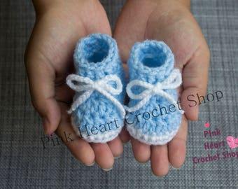 9cd787be7c034 Nouveau-né   bébé prématuré au crochet chaussons