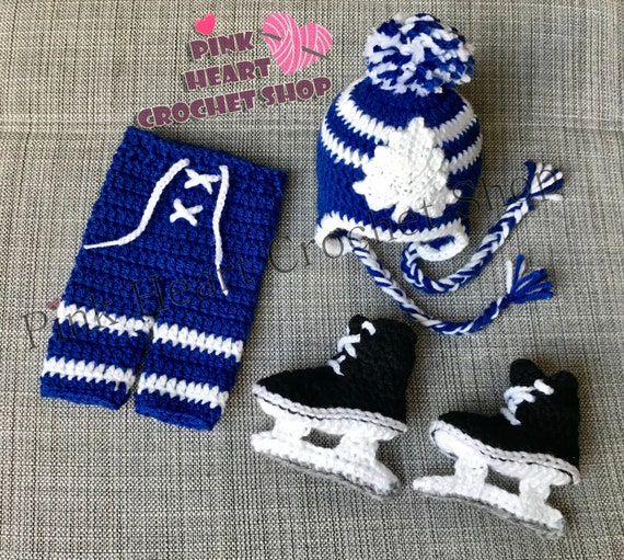 Hockey Apparel Kids Winter Hat with Mits Mitts With Jacket String Size 4-6X 100/% Acrylic Toronto Maple Leafs