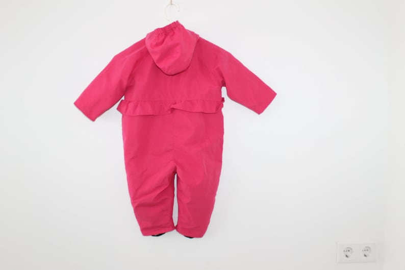 Pink Yellow Ski Suit All in One 80/'S Kids Unisex Overall Bib Ski Suit Hipster Baby Outdoor Wear Winter Retro Snowsuit Size 50 Colored Jumper