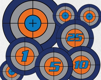 picture regarding Nerf Target Printable identified as Nerf plans Etsy