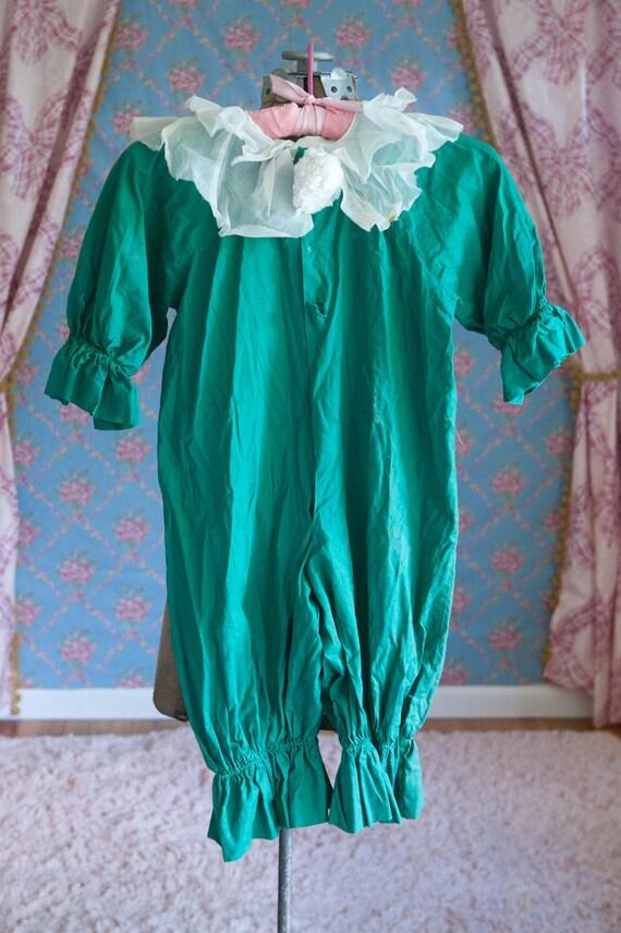 Antique Clown Costume - Vintage Child Sheer Collar