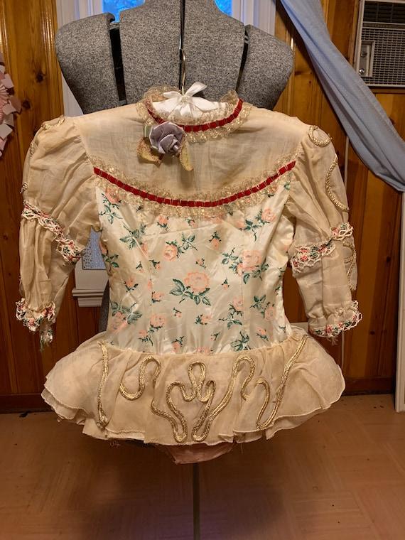 Vintage Dance Costume - Kids Girls 50s Roses Balle