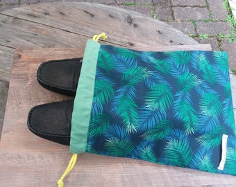 Bag with shoe storage bag, bag, suitcase, small laundry bag, small toys, beach bag, veronpiot palm leaf handbag
