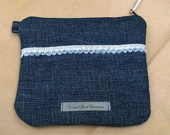 Pocket mini denim mini bag Kit veronpiotcreation cell phone makeup organization storage