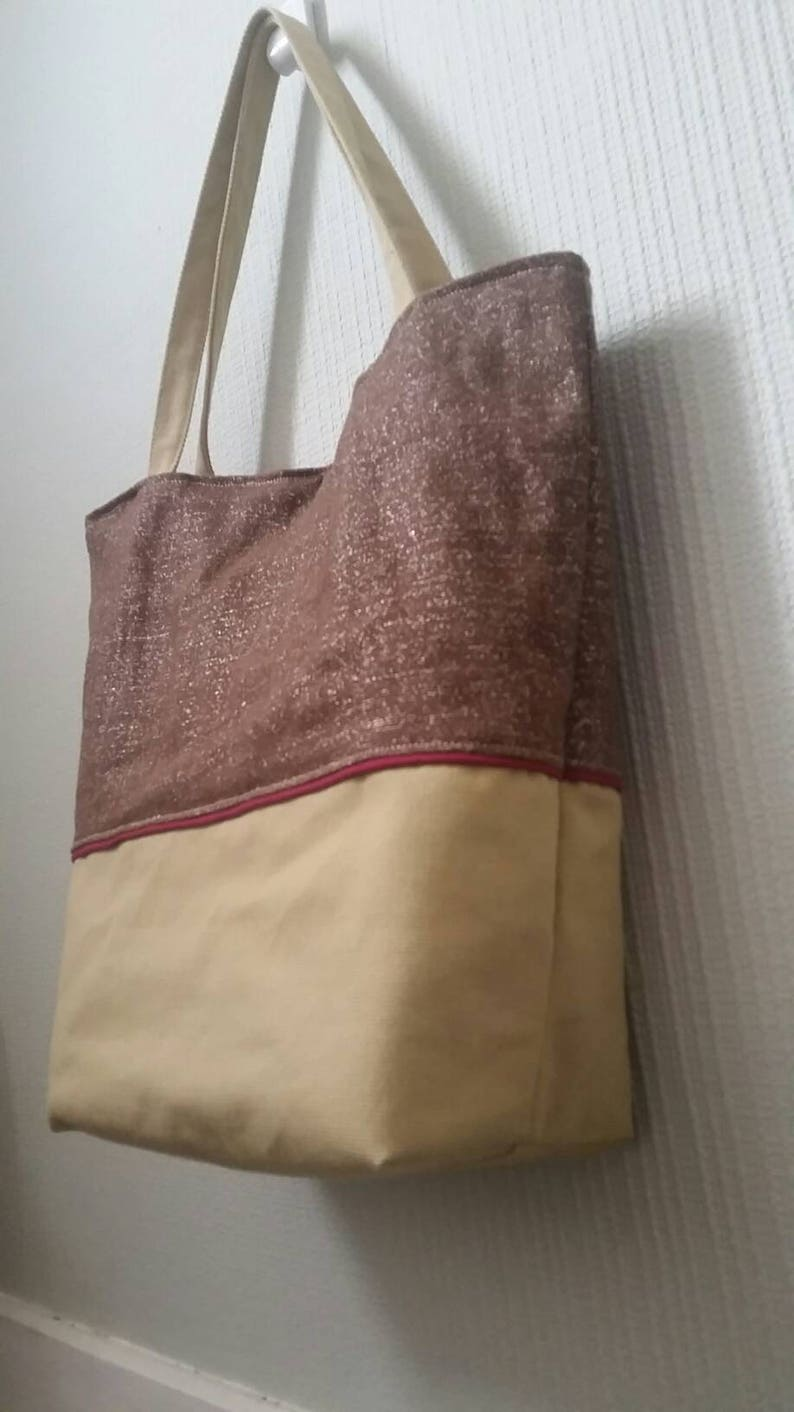 005bd6f4ea Sac cabas toile au naturel coton chanvre lin chocolat grand | Etsy