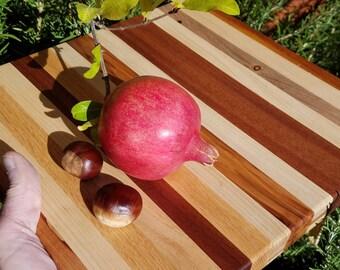 """11x12"""" wood cutting board hardwood display board solid wooden cutting board manzanita wild lilac mahogany maple fancy cheese display board"""