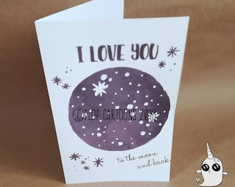 Keepsake Love You To The Moon Scrapbook Photo Album Valentines Gift Idea