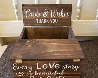Rustic Wedding Card Box Etsy