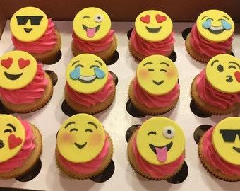 Emoji Cupcake Cookie Toppers