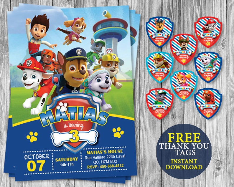 photograph relating to Printable Paw Patrol Invitations referred to as Paw Patrol Invitation Printable, Paw Patrol invitations, Paw Patrol Get together, Paw Patrol Birthday Occasion, Paw Patrol electronic, Paw Patrol tags, Paw