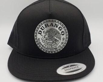 7e985d03 Mexico Name Durango, Zacatecas, Jalisco, Michoacan Metal Plate Mesh  Snapback Cap Hat