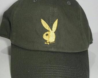 3ec8428f610c3 Playboy Logo Dad Cap Hat