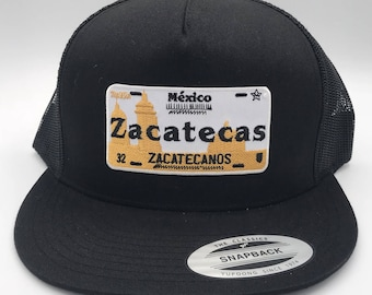 Mexican License Plate Snapback Cap Hat Jalisco Zacatecas Michoacan Sinaloa 9a795d61dc6