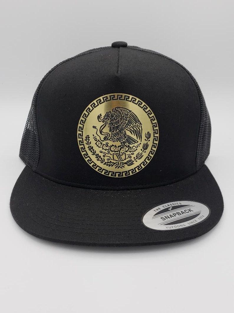 c77a806d77abc7 Mexico Metal Plate Mesh Snapback Cap Hat | Etsy