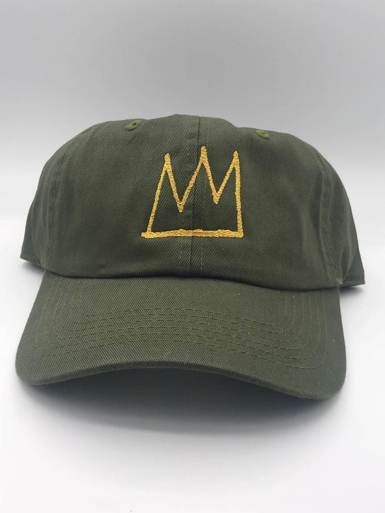 5c4dfd9722120 Basquiat Crown Dad Cap Hat