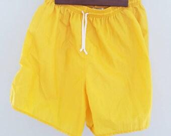 Vintage REAL TUF sport shorts medium goldenrod yellow