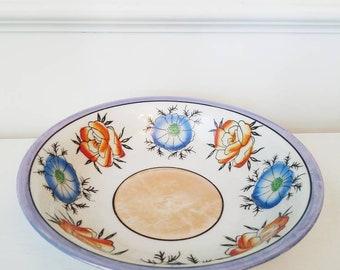 "Vintage 1970's ""Made in Japan"" opalescent Floral bowl"