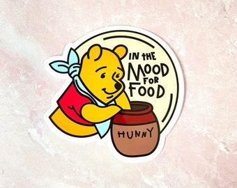 Winnie the Pooh 100 acre wood map cute vinyl small sticker design