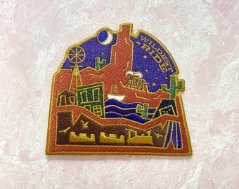 Wildest ride patch disney big thunder mountain inspired quote cute embroidered patch iron on design