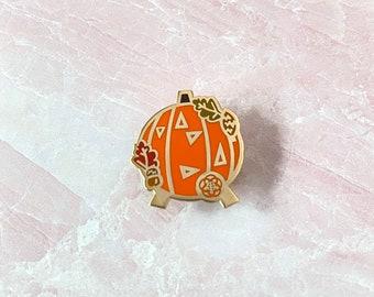 Pumpkin spaceship earth disney fall enamel pins