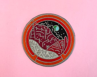 Vintage epcot disney attraction inspired cute embroidered iron on design
