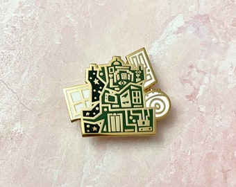 Tower of terror inspired twilight zone Disney attraction quote pin