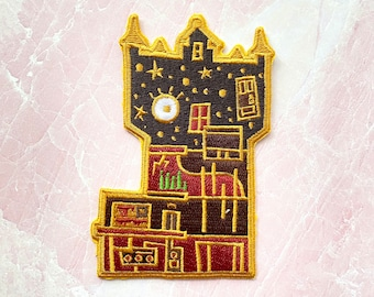 Tower of Terror disney attraction inspired quote cute embroidered large patch iron on design