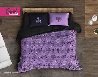 Bedding Set Haunted Mansion inspired, Haunted Mansion Pattern Comforter, Duvet Cover Set, Haunted House Wallpaper, 205