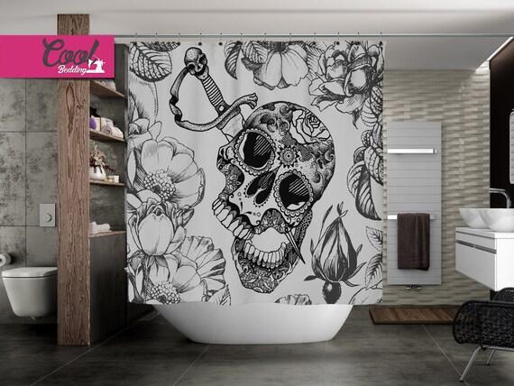 Tende Da Doccia Personalizzate : Personalizzate la tenda della doccia bagno di cranio di etsy