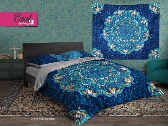 Indian Mandala Bedding Set Bohemian, Boho Bedding Queen Size