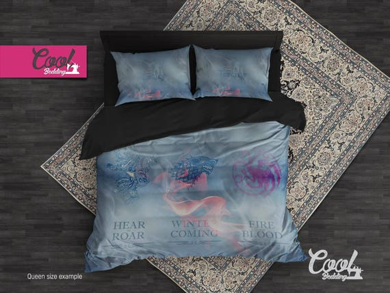 personalized duvet cover game of thrones got bedding set etsy