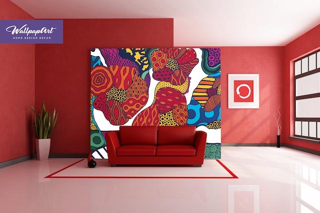 Harajuku Art Wallpaper Floral Self Adhesive Wall Decor | Etsy