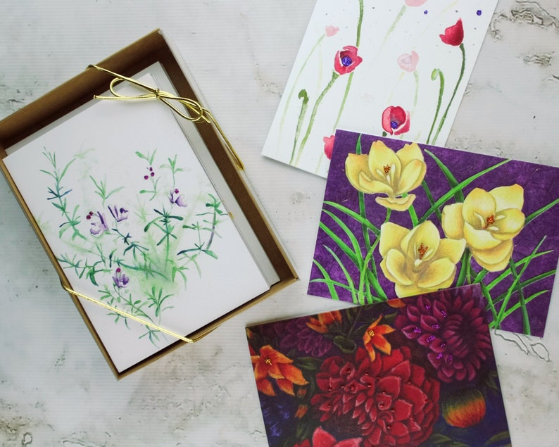 Floral Card Assortment  Set of 8 Greeting Cards with image 0