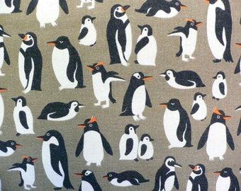 Tissu japonais motif pingouins