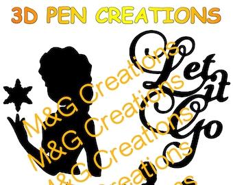 3D Pen stencil creations - download 3D pen templates printable - Frozen
