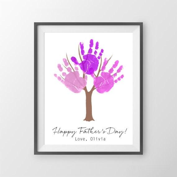 Muttertagsgeschenk Kinder Handabdruck Mutter Tag Kunstdruck Etsy