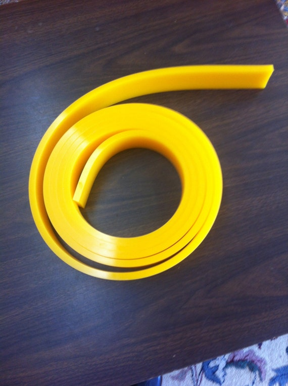6 Ft//feet Roll 70 Duro Durometer Silk Screen Printing Squeegee Blade yellow