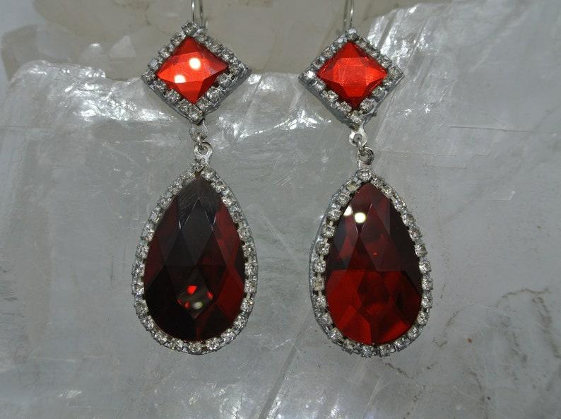 OUTLANDER Season Two themed Red Crystal Versailles Earrings